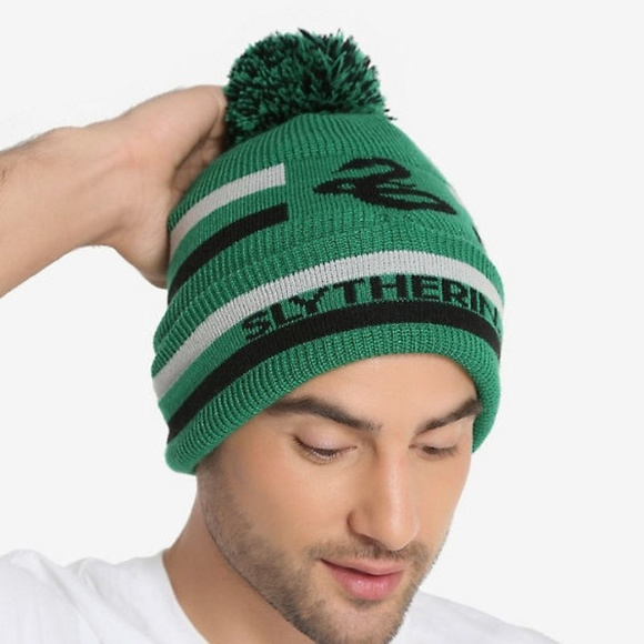 d21be59beec Harry Potter Slytherin Pom Beanie - NWT